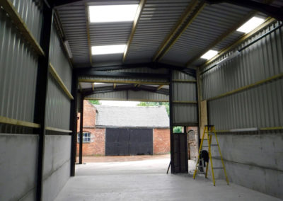 View inside one of our Farm Buildings