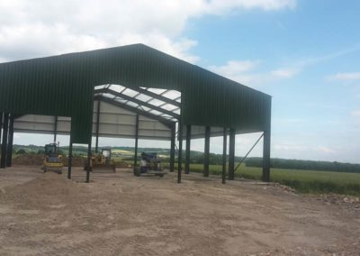 Bespoke farm building under construction