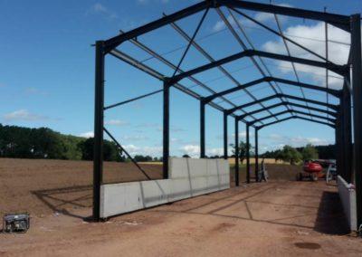 Bespoke farm building under construction
